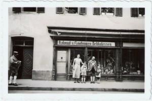 Kolonial- u. Rauchwaren-Delikatessen Laden Familie Mehl in den 1930er Jahren